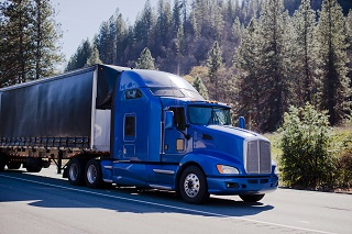 image of truck driving in california